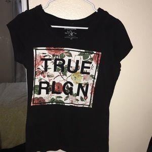 A black true religion shirt